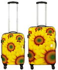 Polycarbonat Hartschalenkoffer Reise Koffer Trolley Set Bordgepäck Sunflower