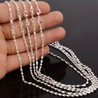 """10P 16-30"""" Wholesale Jewelry 925 Silver Plated Double Water Wave Chain Necklaces"""