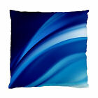 NEW~Abstract Blue Waves Decorative Cushion Cover Throw Pillow Cover Patio Decor