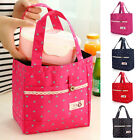 Insulated Wave Point Thermal Picnic Box Child Kids Carry Travel School Lunch Bag