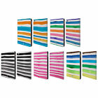 HEAD CASE DESIGNS WATERCOLOURED STRIPES LEATHER BOOK WALLET CASE FOR APPLE iPAD