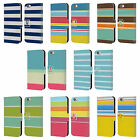 HEAD CASE DESIGNS STRIPES COLLECTION LEATHER BOOK CASE FOR APPLE iPHONE PHONES