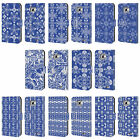 HEAD CASE DESIGNS DAZZLING BLUE PATTERN LEATHER BOOK CASE FOR SAMSUNG PHONES 2