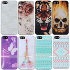 Unique Painted Pattern Hard Slim Back Case Cover Protector For Apple iPhone 5 5S