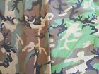 Military camo camouflage fabric US Army Woodland cotton poly or rip stop 1 yd