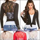 NEW sexy LADIES lacy knit CARDIGAN JUMPER TOP 6 8 10 12 knitted bolero KNITWEAR