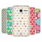 HEAD CASE HEART PATTERN SOFT GEL CASE FOR ALCATEL PIXI 3 3.5