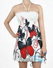 Sexy Halter Style Red Butterfly Summer Party Dress S-XL