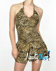 Sexy Leopard Halter Style Summer Party Club Dress S-L