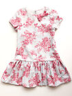 Luli & Me Little Girls Party Dress Rose Print Drop Waist Style Sizes 4 -6X  NWT