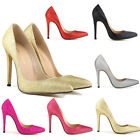 Womens High Heels Sexy Glittering Bling Fashion Pumps Court Shoes US Size 4-11