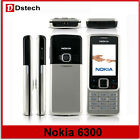 Brand Unlocked Nokia 6300 Silver Black Mobile Phone 2MP,MP3,Classic Phone,GSM