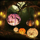 Holloween Scary LED Paper Pumpkin Ghost Hanging Lantern Light Holiday Party Prop
