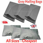 Grey Mailing Bags Mail Plastic Post Poly Strong Postage with Self Seal ALL SIZES