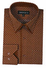 Men's Fashion mini-polka dot dress shirt Double collar Angel-cuff by Georges 617