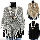 CharlesElie94 JULIETA Women's Winter Warm Fur Shrug Poncho Cape Size US 6-16