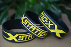 """STATIC-X Silicone Rubber 1"""" Wide Debossed Wristband Bracelet"""