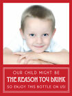 Personalised Wine bottle label, Teacher Reason you drink, Christmas,any occasion