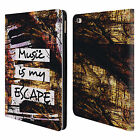 HEAD CASE DESIGNS ALL ABOUT MUSIC LEATHER BOOK WALLET CASE COVER FOR APPLE iPAD