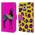 HEAD CASE DESIGNS PATTERNED SILHOUETTE LEATHER BOOK CASE FOR SAMSUNG PHONES 2