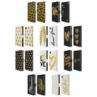 HEAD CASE DESIGNS GRAND AS GOLD LEATHER BOOK WALLET CASE COVER FOR SONY PHONES 1