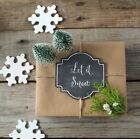 Assorted Christmas Chalk Tag Kit with Kraft Wrapping Paper Sheets