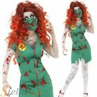 Ladies Zombie Nurse Doctor Undead Halloween Womens Fancy Dress Costume Outfit