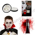 CHILDRENS KIDS HALLOWEEN VAMPIRE DRACULA FANGS BLOOD WHITE PAINT FANCY DRESS