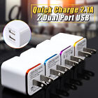 US Plug Mini Dual 2 USB Home Travel Wall Adapter Power Charging Adaptor 2.1A/1A