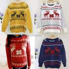 Women Round neck Sweater Knitwear Long Sleeve Loose Pullover Knitted Jumper N98B