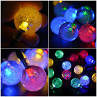 Color Solar Power String 30 LED 6M Light Strip Ball Outdoor Wedding Xmas Deco