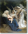 HUGE Bouguereau SONG OF ANGELS Stretched Canvas Giclee Art Repro Print ALL SIZES