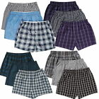 Pack of 3 Mens Ex M&S Pure Cotton Woven Boxer Shorts Button Fly 100% Cotton S-XL