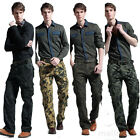 Fashion Mens Cotton Combat Military Camouflage Cargo Pants Work Trousers Pants