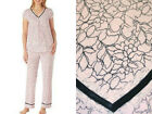 NEW CAROLE HOCHMAN WOMENS MIDNIGHT 2pc SOFT PAJAMAS PINK FLORAL You Pick Size