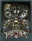 New Wolves Live To Ride Metal Tin Sign