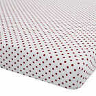 Catherine Lansfield Brushed Hearts White Red Flannelette Bedding Fitted Sheet