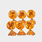 1.2mm Lot 6,10,20,50,100pcs Round Cut Calibrated Size Natural Orange SAPPHIRE