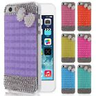 3D Bowknot Crystal Bling Diamond Rhinestone Hard Back Case Cover for iPhone 5 5S
