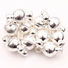 5 Sets Silver/Gold Plated Round Strong Magnetic Hook Clasps Jewelry Finding DIY