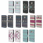 HEAD CASE KNITTED CHRISTMAS PRINTS LEATHER BOOK WALLET CASE FOR SAMSUNG PHONES 1