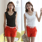 Lady Sexy Floral Lace Crochet Vest Sleeveless Stretchy Tank Tunic T Shirt Cool