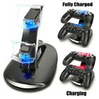 Dual USB Charger LED Station Dock Fast Charging Stand For Sony PS4 Controller US