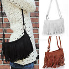 Hot Women Tassel Fringe Faux Leather Shoulder Crossbody Bag Handbag Purse AS