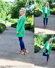 ZARA GREEN COAT JACKET SIZE MEDIUM BLOGGERS!