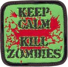 "Keep Calm Kill Zombies Morale Velcro Patch, 2.5"" x 2.5"""