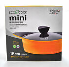 Kitchen Flower Eco Cook Mini Eco Friendly Ceramic Coating Pot w/Lid 16cm