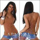 NEW SEXY LADIES FASHION lacy STRETCH TANK TOP ONLINE M L XL WOMEN'S CASUAL WEAR