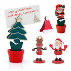 6 x Table Place Setting Name Card Holder Christmas Party Decoration Santa Xmas