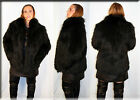 New Feathered Black Fox Fur Jacket - Sizes Medium Large Extra Large